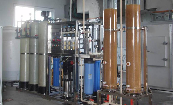 Reverse osmosis equipment plus ion exchange